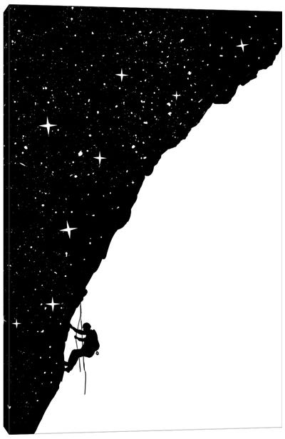 Night Climbing Canvas Art Print