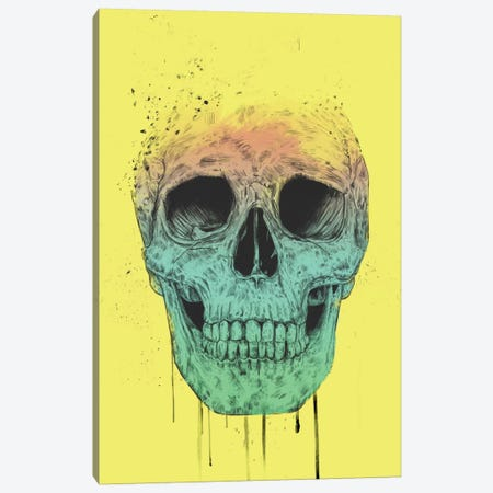 Pop Art Skull Canvas Print #BSI83} by Balazs Solti Canvas Art Print