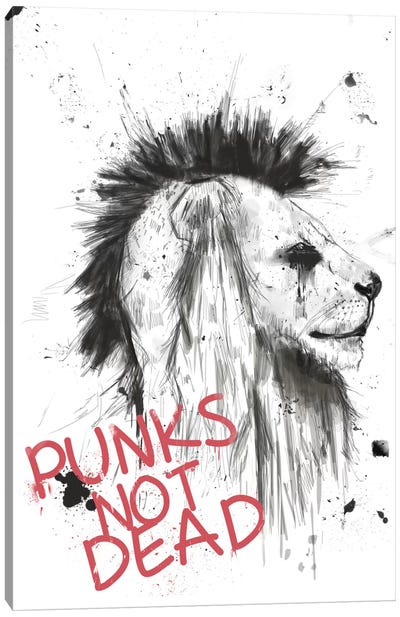 Punks Not Dead Canvas Print #BSI87
