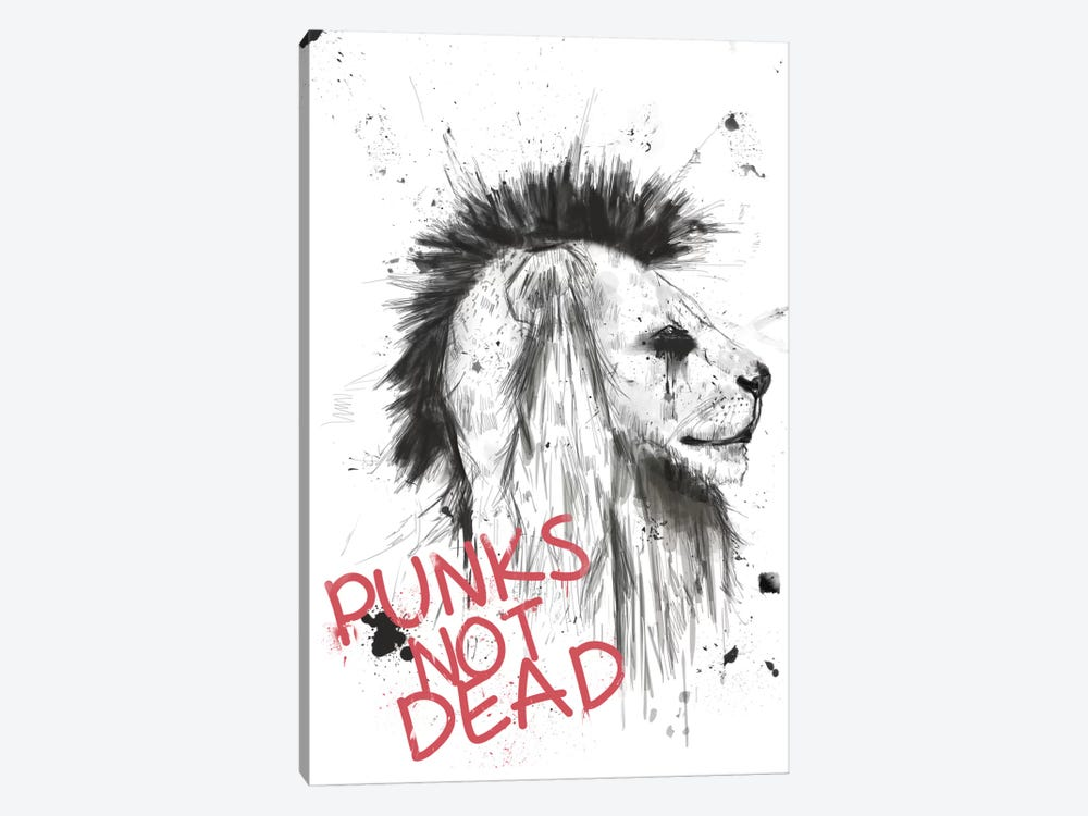 Punks Not Dead by Balazs Solti 1-piece Art Print