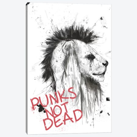 Punks Not Dead Canvas Print #BSI87} by Balazs Solti Canvas Wall Art