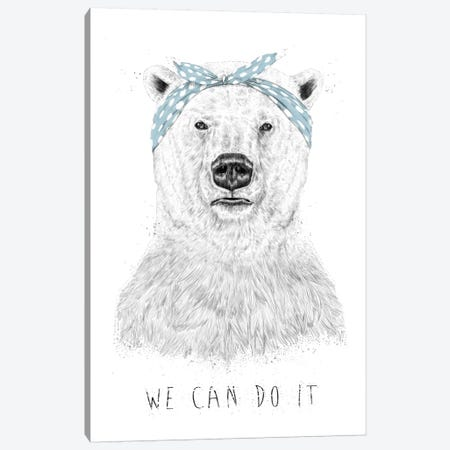 We Can Do It Canvas Print #BSI8} by Balazs Solti Canvas Art