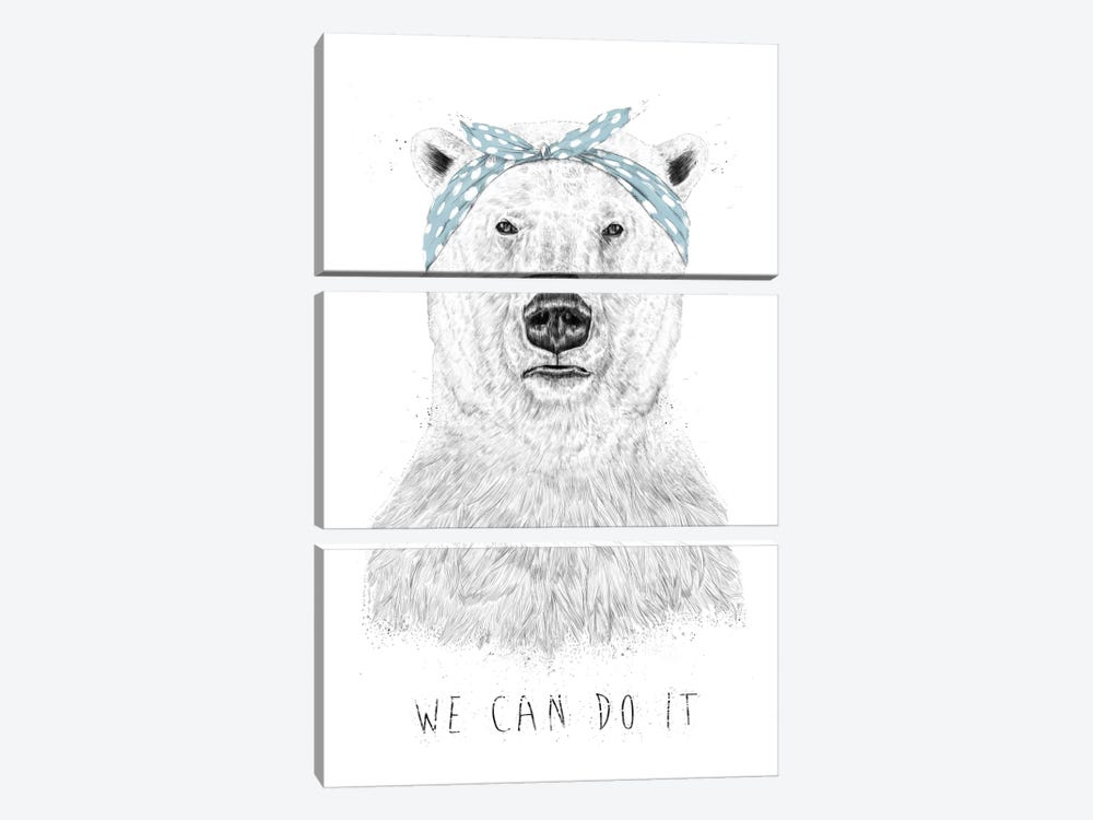We Can Do It by Balazs Solti 3-piece Canvas Art Print