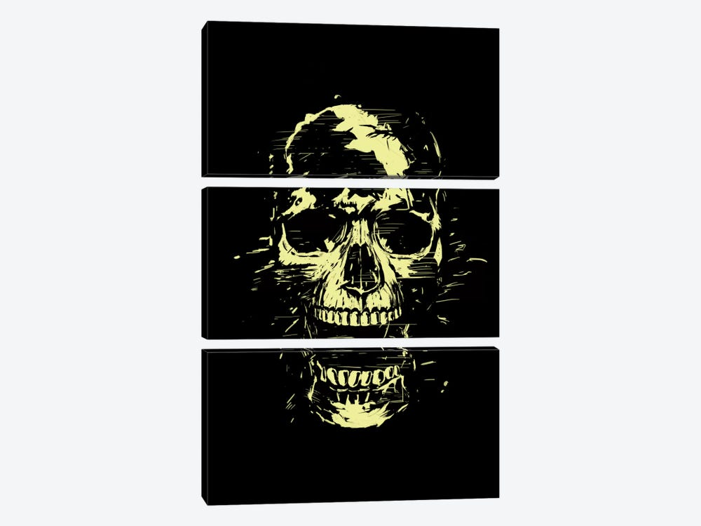 Scream (Gold) by Balazs Solti 3-piece Art Print
