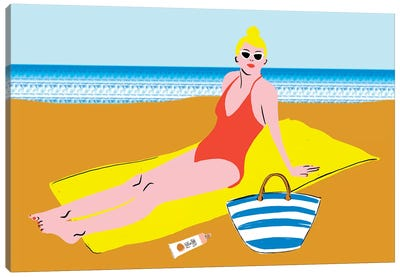 Beachy Keen II Canvas Art Print