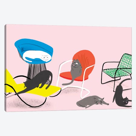Mod Cat Collection Canvas Print #BSL22} by Blanckslate Canvas Art