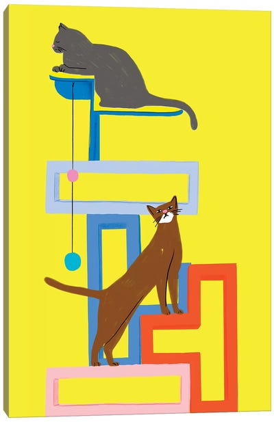 Mod Cat Collection Canvas Art Print