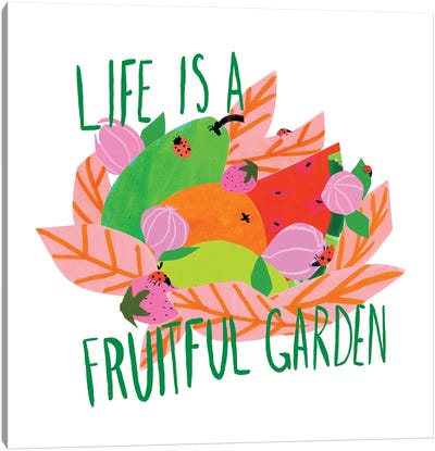Fruitful Garden I Canvas Art Print