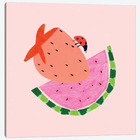 Strawberry Fields I Canvas Print #BSL30} by Blanckslate Canvas Art Print