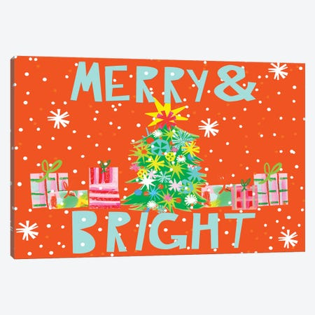 Merry & Bright Collection A Canvas Print #BSL34} by Blanckslate Canvas Art