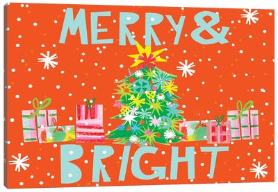 Merry & Bright Collection A Canvas Art Print