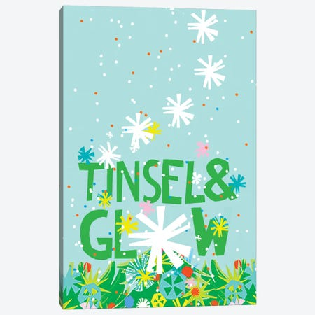 Merry & Bright Collection B Canvas Print #BSL35} by Blanckslate Canvas Art