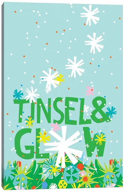 Merry & Bright Collection B Canvas Art Print