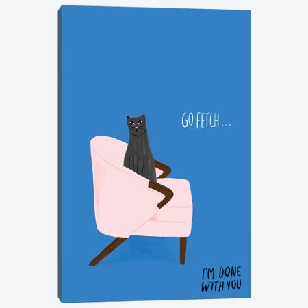 Mod Cats II Canvas Print #BSL4} by Blanckslate Canvas Artwork