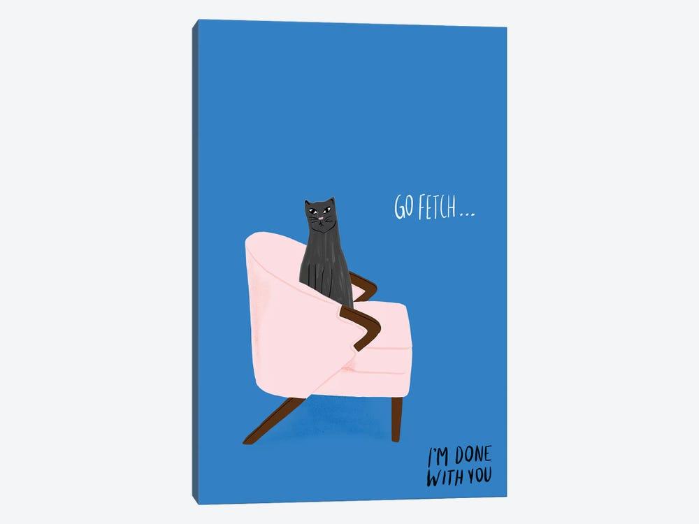 Mod Cats II by Blanckslate 1-piece Canvas Artwork
