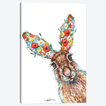Herbaceous Hare Canvas Print #BSR100} by BebesArts Canvas Art Print