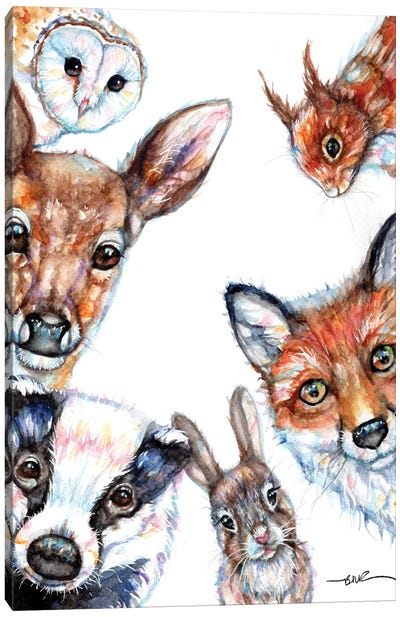 Peek A Boo Canvas Art Print