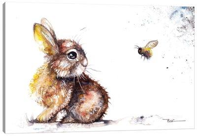 Rabbit And Bee Canvas Art Print