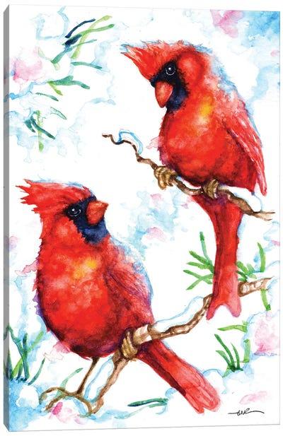 Red Cardinals Canvas Art Print