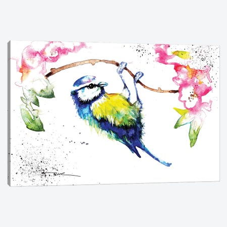 Blue Tit Canvas Print #BSR10} by BebesArts Canvas Print
