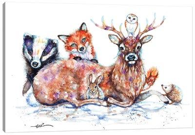 Woodland Pals Canvas Art Print