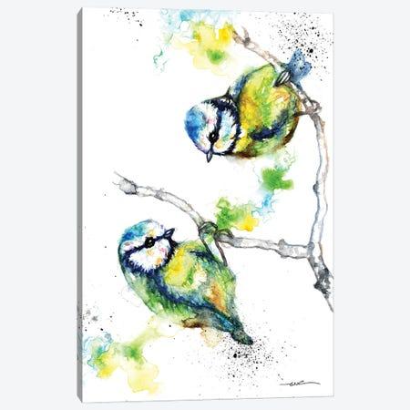 Blue Tits Canvas Print #BSR12} by BebesArts Canvas Print