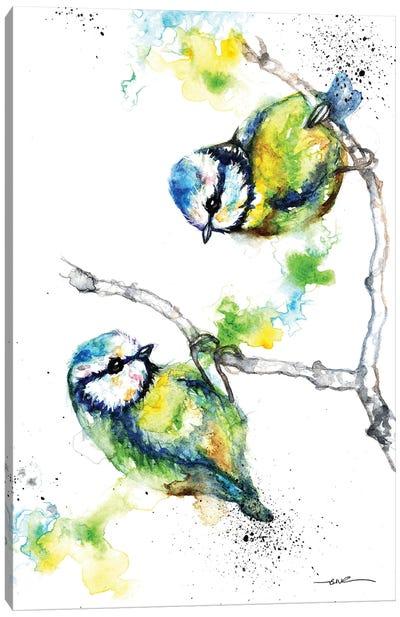Blue Tits Canvas Art Print