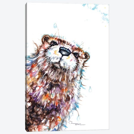 Curious Otter Canvas Print #BSR17} by BebesArts Canvas Art