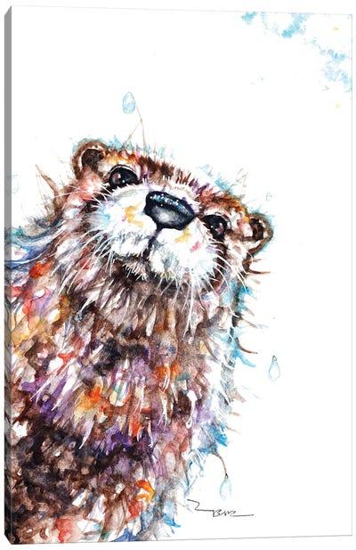 Curious Otter Canvas Art Print