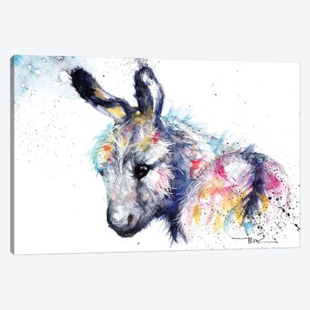 Donkey Canvas Print #BSR20} by BebesArts Canvas Artwork