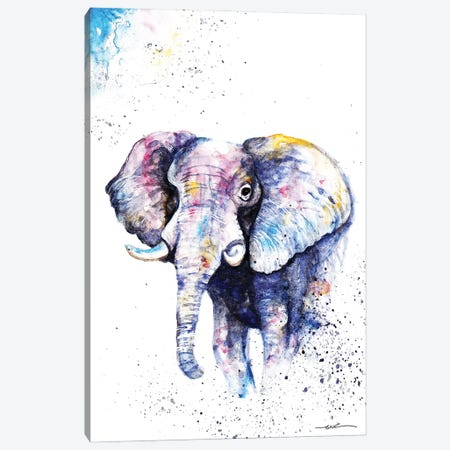 Elephant Never Forgets Canvas Print #BSR22} by BebesArts Canvas Wall Art