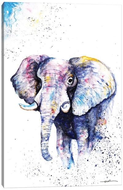Elephant Never Forgets Canvas Art Print