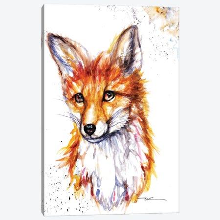 Fox Canvas Print #BSR25} by BebesArts Art Print