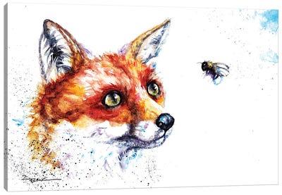Fox And Bee Canvas Art Print