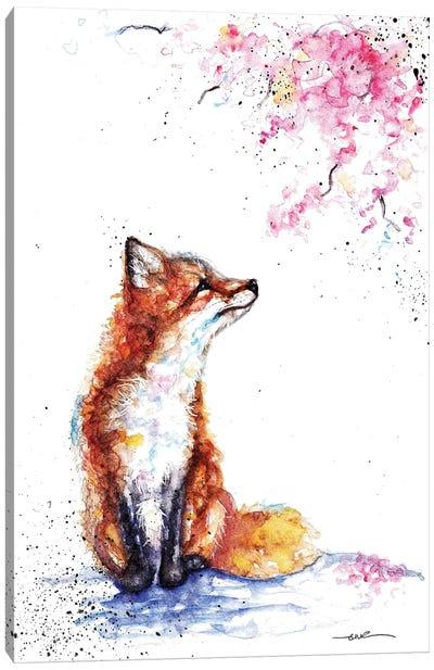 Fox And Blossom Canvas Art Print