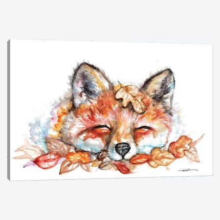 Fox N Leaves Canvas Print #BSR29} by BebesArts Canvas Art