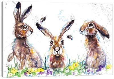 Hares And Bees Canvas Art Print