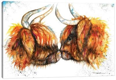 Highland Cows Canvas Art Print