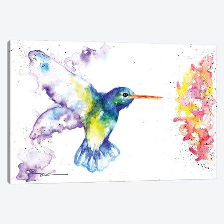 Hummingbird And Blossom II Canvas Print #BSR37} by BebesArts Canvas Art