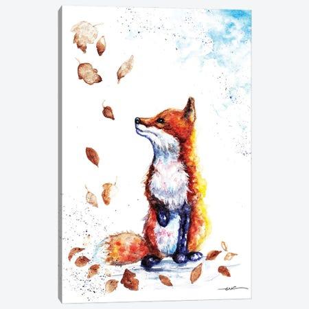 Autumn Fox Canvas Print #BSR3} by BebesArts Canvas Art