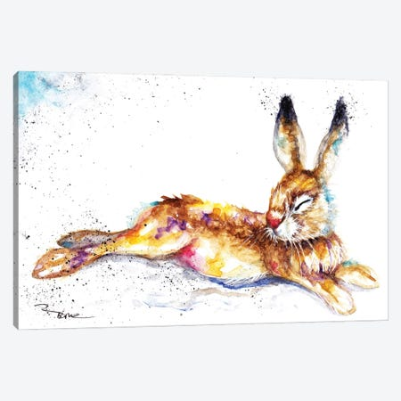 Lazy Hare Canvas Print #BSR45} by BebesArts Canvas Art Print
