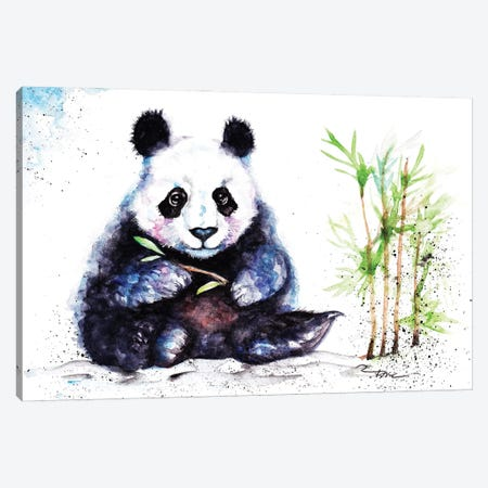 Little Panda Canvas Print #BSR47} by BebesArts Art Print