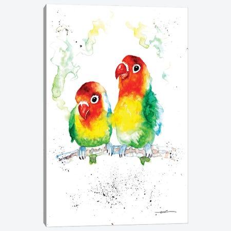 Love Birds Canvas Print #BSR49} by BebesArts Canvas Artwork