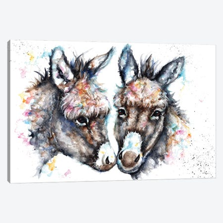 Lovin' Donkeys Canvas Print #BSR50} by BebesArts Art Print