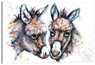 Lovin' Donkeys Canvas Art Print