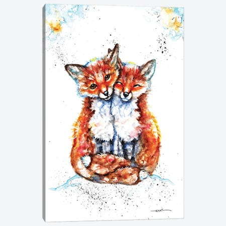 Lovin' Foxes Canvas Print #BSR51} by BebesArts Canvas Print