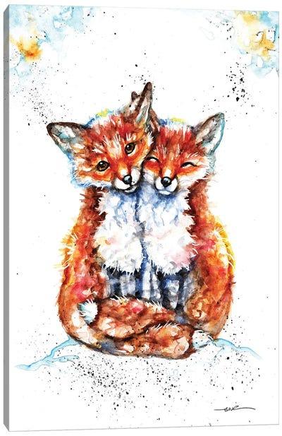 Lovin' Foxes Canvas Art Print
