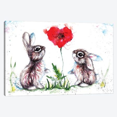 Lovin' Rabbits Canvas Print #BSR52} by BebesArts Canvas Print