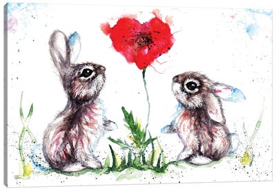 Lovin' Rabbits Canvas Art Print