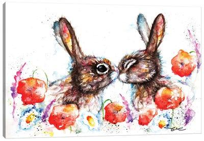Meadow Rabbits Canvas Art Print